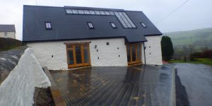 Glass roofed barn becomes a first for the Brecon Beacons National Park.